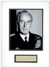 Lord Mountbatten Autograph Signed